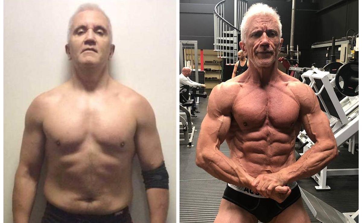 A sus 57 años este hombre cambió sus hábitos y ahora es fisicoculturista