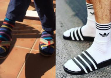 chanclas con calcetines