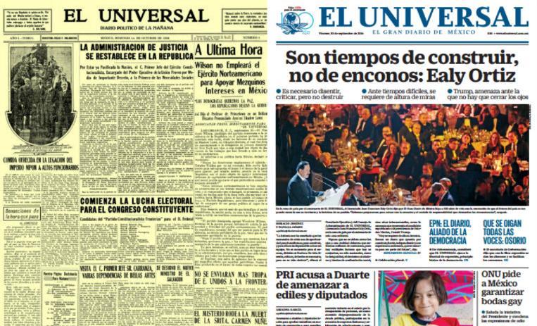 27f179e8f6 EL UNIVERSAL, El Gran Diario de México, celebra 100 años | De10