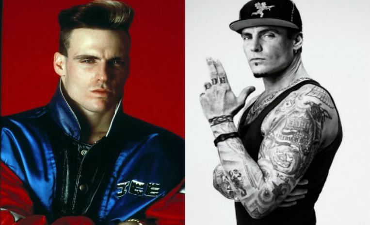 vanilla ice, antes y despues