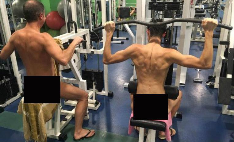 Invitan en París a hacer ejercicio sin ropa — Al gimnasio desnudos