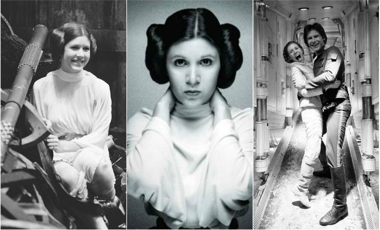 carrie fisher, star wars, princesa leia, aniversario, actrices, muerte carrie fisher, cumpleaños carrie fisher, detras de cámaras, secretos star wars, curiosidades star wars