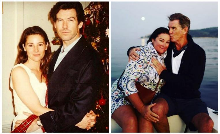 pierce brosnan, relationship goals, romances hollywood, parejas hollywood, tragedia pierce brosnan, keely shaye, esposa pierce brosnan