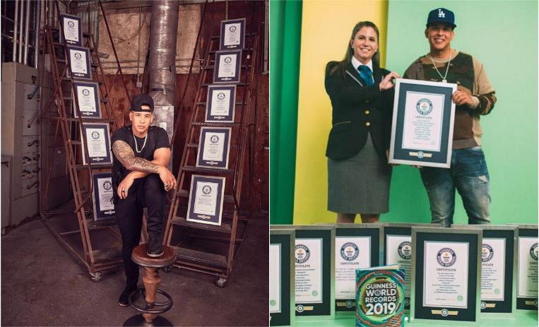 daddy yankee récords guinnes, daddy yankee regueton, despacito records guinness, mejores reguettoneros, récords guinness extraños