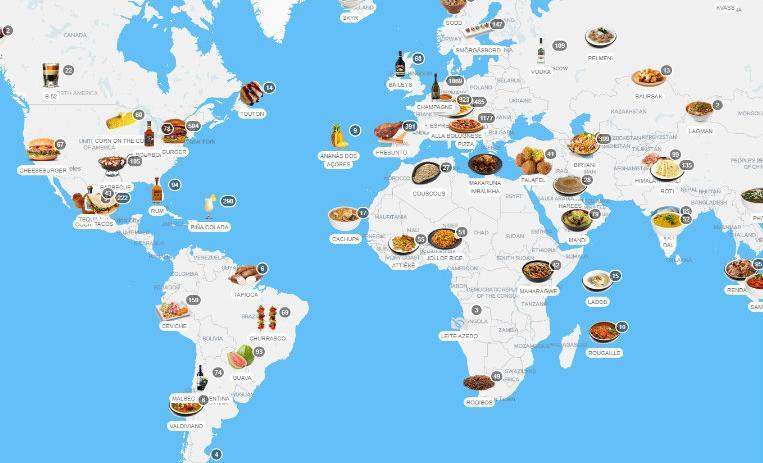 Conoce El Delicioso Mapa Interactivo De Comida De Todo El Mundo De10