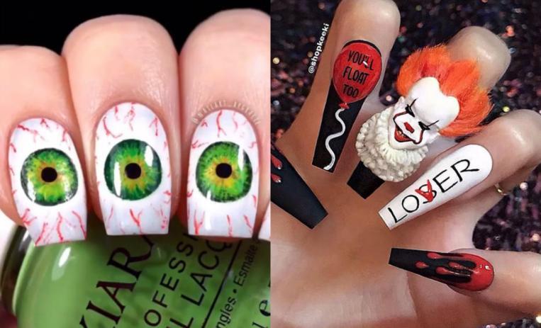 10 Terroríficos Diseños De Uñas Para Despertar El Horror En