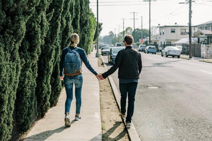 pareja, jóvenes,