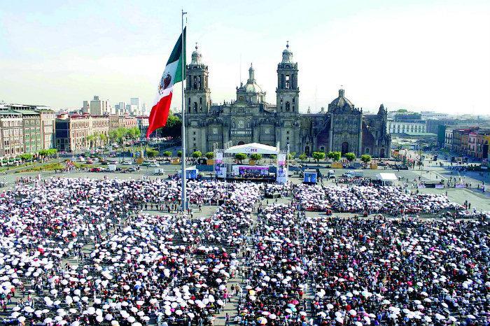 zócalo, evento masivo, habitantes, CDMX,