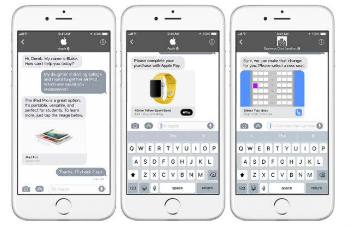Business chat, apple, chat, ventas, actualización, iOS, Apple,