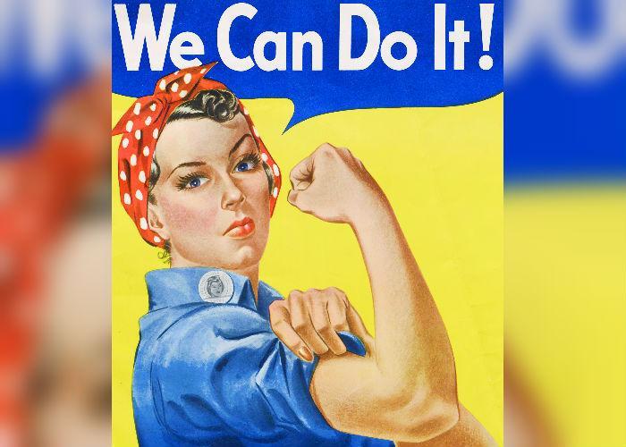 rosie la remachadora, rosie, we can do it, segunda guerra mundial, feminismo