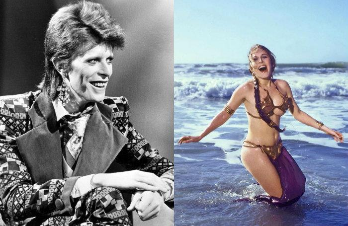 David Bowie, Carrie Fisher, romance, secreto, relación amorosa,