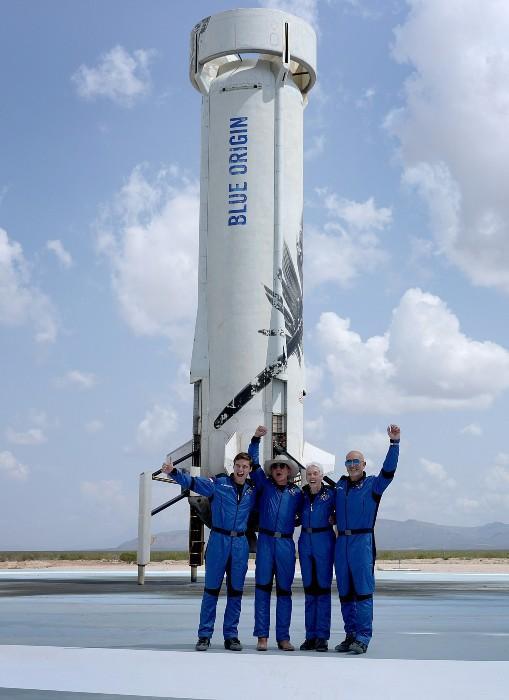 Jeff Bezos y su viaje de 11 minutos al espacio